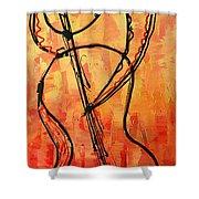 Red Jazz 3 Shower Curtain