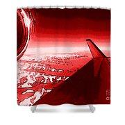 Red Jet Pop Art Plane Shower Curtain