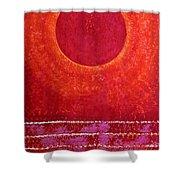 Red Kachina Original Painting Shower Curtain