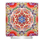 Red Karma Shower Curtain