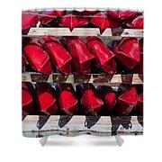Red Kayaks Shower Curtain