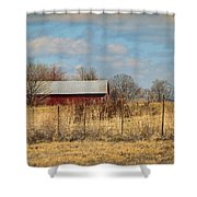Red Kentucky Relic Shower Curtain
