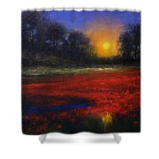 Red Lagoon Shower Curtain