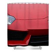 Red Lamborghini Shower Curtain