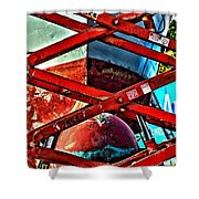 Red Lift Shower Curtain