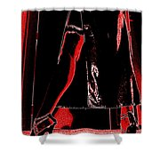 Red Light Black Dress Shower Curtain