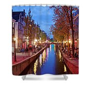Red Light District In Amsterdam Shower Curtain