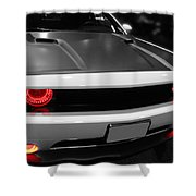 Red Lights Shower Curtain by Tom Gari Gallery-Three-Photography