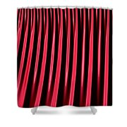 Red Lines Shower Curtain