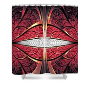 Red Lips Shower Curtain