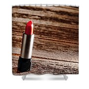 Red Lipstick Shower Curtain