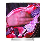 Red Mandolin Shower Curtain