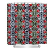 Red Maple Leaf Pattern Shower Curtain