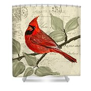Red Melody Shower Curtain