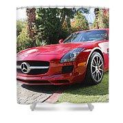 Red Mercedes Benz Shower Curtain