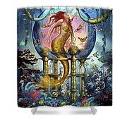 Red Mermaid Shower Curtain