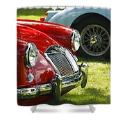 Red M G Shower Curtain