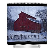 Red Mill Antique Barn Shower Curtain