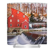 Red Mill Clinton New Jersey Shower Curtain