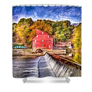 Red Mill Painted Shower Curtain