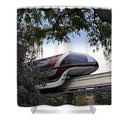 Red Monorail Disneyland 01 Shower Curtain