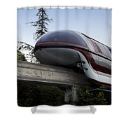 Red Monorail Disneyland 02 Shower Curtain
