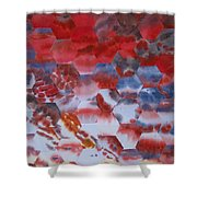 Red Morning With Two Ducks Shower Curtain