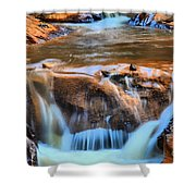 Red Mountain Creek Shower Curtain