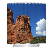 Red Mountain Garden Of The Gods  Colorado Shower Curtain by Robert D  Brozek
