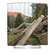 Red Mountain Ruins Shower Curtain