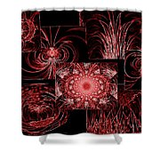 Red Neon Collage Shower Curtain
