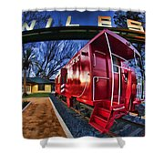 Red Niles Shower Curtain