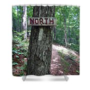 Red North Sign Shower Curtain