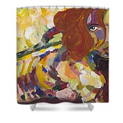 Red Nude Shower Curtain
