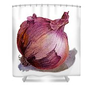 Red Onion Shower Curtain