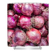 Red Onions Shower Curtain