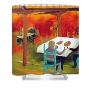 Red Or Green Shower Curtain by Keith Thue
