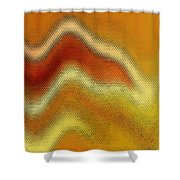 Red Orange And Yellow Glass Waves Shower Curtain
