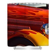 Red Orange And Yellow Hotrod Shower Curtain