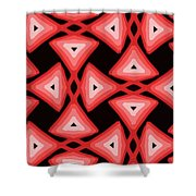 Red Ornament IIi Shower Curtain