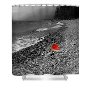 Red Pail Shower Curtain