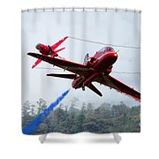 Red Pair  Shower Curtain