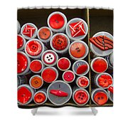 Red Palate Shower Curtain