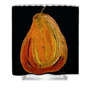 Red Pear - Delicious Modern Fruit Food Art Print Shower Curtain
