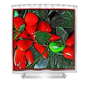 Red Pepper Plant Shower Curtain
