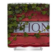 Red Phone Box Shower Curtain