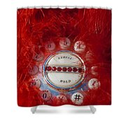 Red Phone For Emergencies Shower Curtain