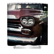 Red Pickup Shower Curtain
