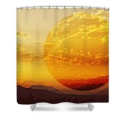 Red Planet Sunset Shower Curtain