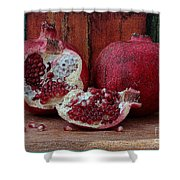 Red Pomegranate Shower Curtain
